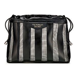 Victoria's Secret Legacy Stripe Makeup Beauty Bag